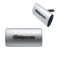 Custom Clip Air Freshener with Aluminum Cover in Silver