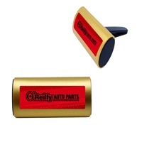 Gold Full Cover Label Clip Air Freshener with Aluminum Cover