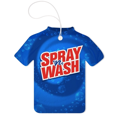Custom Promotional Tshirt Tek-Scented Air Fresheners