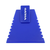 Promotional Ice Scraper with Visor Clip in Blue