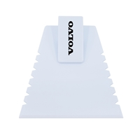 Promotional Ice Scraper with Visor Clip in White