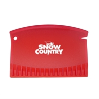 Promotional Credit Card Style Ice Scraper in Red
