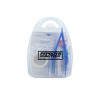 Custom Direct Imprinted First Aid Kit with Handle in Frost