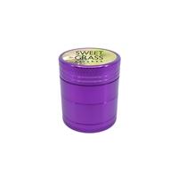 Custom Full Color Label Aluminum Grinder in Purple