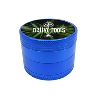 Blue Aluminum Grinder with Full Color Label