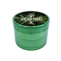 Promotional Custom Green Aluminum Grinder with Full Color Label
