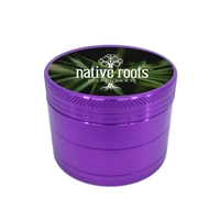 Custom Purple Aluminum Grinder with Full Color Print
