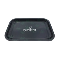 Promotional Custom Tin Tray with Small Leaf Design