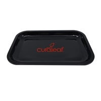 Custom Solid Black Tin Tray