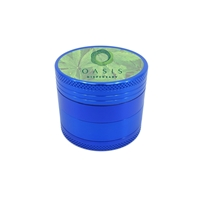 Promotional Aluminum Grinder in Blue with Full Color Label