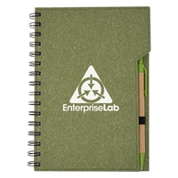 Custom Imprinted Inspire Spiral Notebook in Green