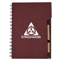 Custom Imprinted Red Inspire Spiral Notebook