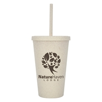 Promotional 16 oz. Natural Newport Wheat Travel Tumbler