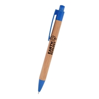 Custom Bamboo Wheat Writer Pen in Blue