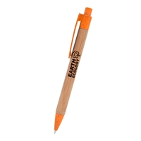 Promotional Orange Bamboo Wheat Writer Pen