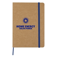 Promotional Custom Eco-Inspired Strap Notebook in Blue