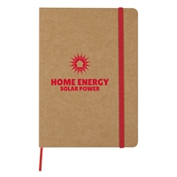 Promotional Red Eco-Inspired Strap Notebook