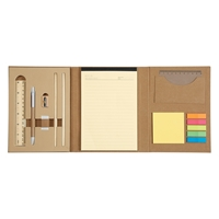 Promotional Eco-Inspired Tri-Fold Stationery Book Open