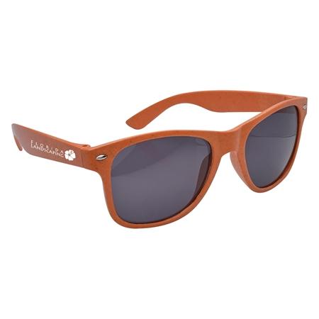 Custom Promotional Orange Wheat Malibu Sunglasses
