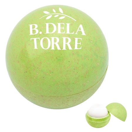 Promotional Custom Green Wheat Lip Moisturizer Ball