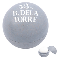 Promotional Wheat Lip Moisturizer Ball in Gray