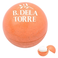 Custom Wheat Lip Moisturizer Ball in Orange