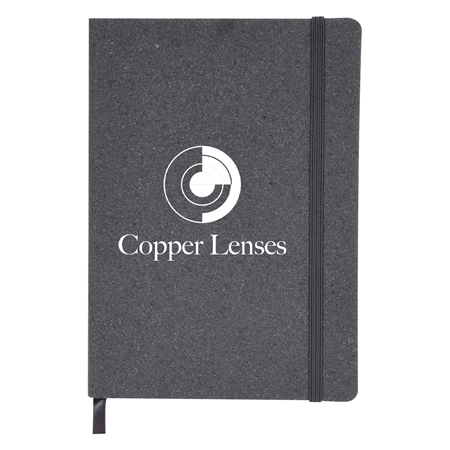 Custom Imprinted Recycled Cotton Journal in Gray