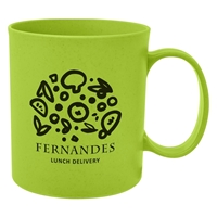 Promotional 12 oz. Wheat Mug in Lime Green