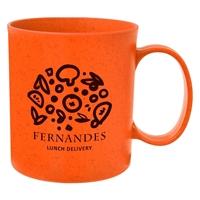 Custom Printed Orange 12 oz. Wheat Mug
