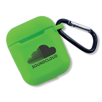 Custom Printed Lime Green Silicone Airpod Cover