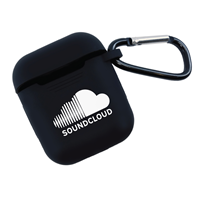 Personalized Airpod Silicone Cover in Black