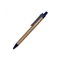 Promotional Recycled Eco Friendly Ballpoint Pen with Blue Accents