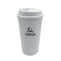 Promotional Custom Eco Friendly 16 oz. Bamboo Fiber Tumbler Closed
