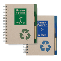 Custom Eco-Inspired Notebook and Pen