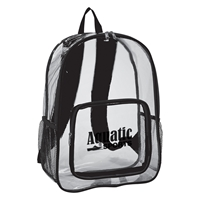 Promotional Clear Backpack in Black