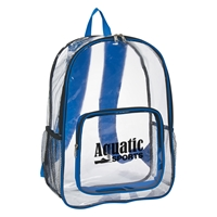 Custom Clear Backpack in Blue
