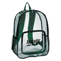 Custom Printed Clear Backpack in Green