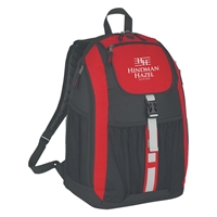 Promotional Deluxe Backpack in Red
