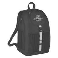 Custom Printed Black Deluxe Backpack