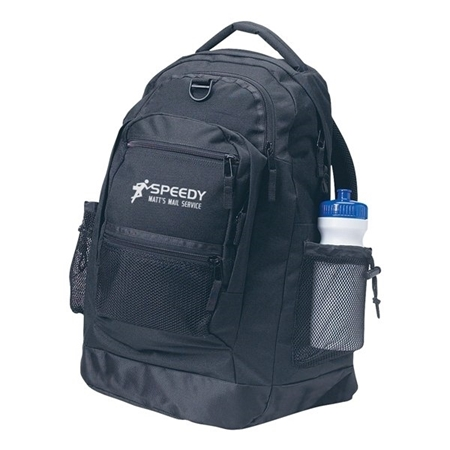 Custom Promotional Sports Backpack in Black