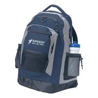 Promotional Sports Backpack in Navy