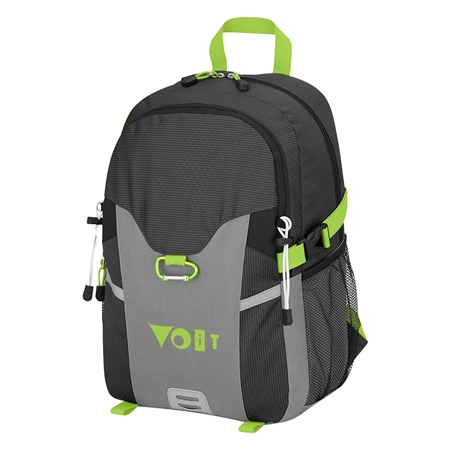 Custom Promotional Odyssey Backpack in Lime Green