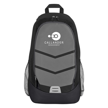Custom Promotional Black Diamond Lattice Accent Backpack