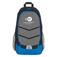 Promotional Blue Diamond Lattice Accent Backpack
