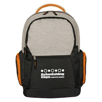 Custom Orange Urban Laptop Backpack