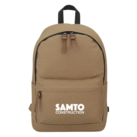 Custom Promotional 100% Cotton Backpack in Beige