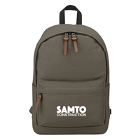Custom 100% Cotton Backpack in Olive Brown