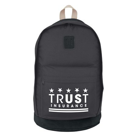 Custom Promotional Black on Black Custom Printed Nomad Backpack