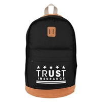 Promotional Black on Brown Custom Printed Nomad Backpack