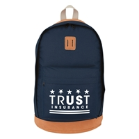 Custom Navy on Brown Custom Printed Nomad Backpack